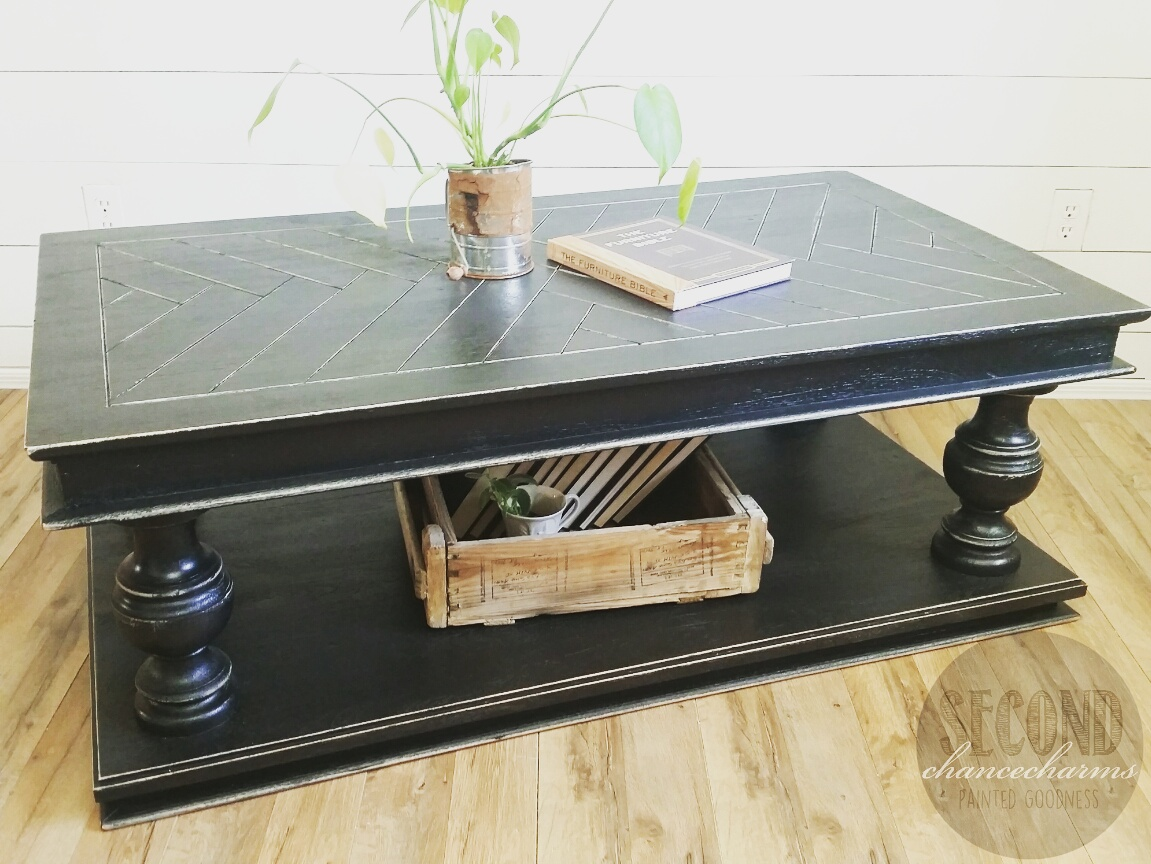Tricorn Black Sherwin Williams Coffeetable Second Chance Charms